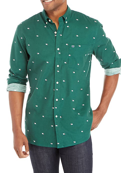 Crown & Ivy™ Long Sleeve Printed Flannel Shirt