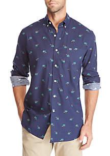 Long Sleeve Printed Flannel Shirt