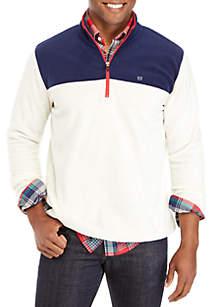 Colorblock Fleece Pullover Sweatshirt