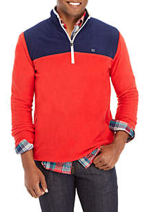 Colorblock Fleece Pullover Sweatshirt