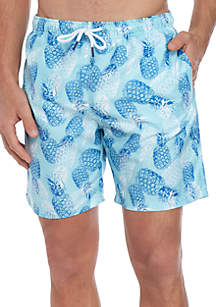 3fc9a4c341d7d Crown & Ivy™ Printed Swimming Trunks