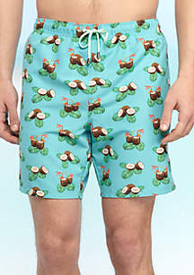 Big & Tall Coconut Swim Trunks