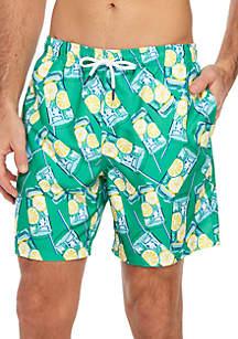 Crown & Ivy™ Big & Tall Printed Swim Trunks