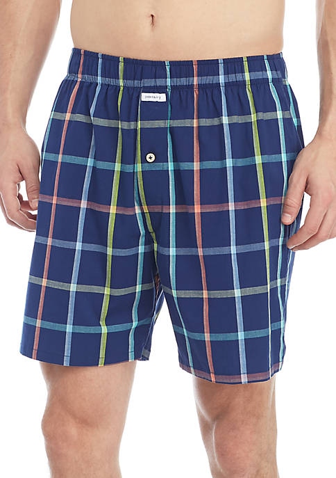 Crown & Ivy™ Window Pane Love Mens Boxer