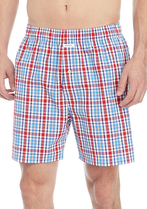 Crown & Ivy™ Americana Plaid Mens Boxer