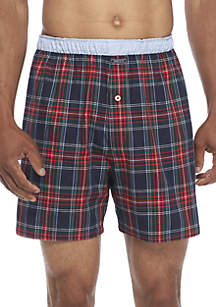 Blue Red Plaid Boxers
