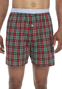 Red Green Plaid Boxers