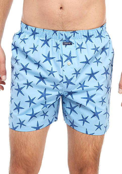 Crown & Ivy™ Star Fish Print Boxers