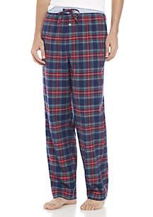 Crown & Ivy™ Flannel - Navy Plaid Pants