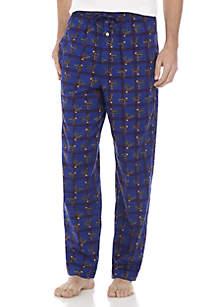 Flannel Deer Print Pants