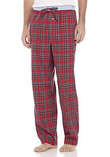 Red Plaid Stretch Flannel Sleep Pant