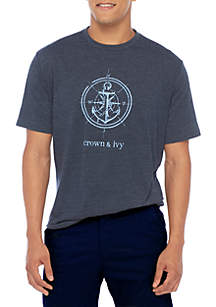 Crown & Ivy™ Short Sleeve Anchor Graphic Tee