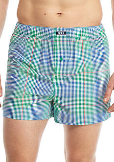 IZOD Woven Gingham Plaid Boxers