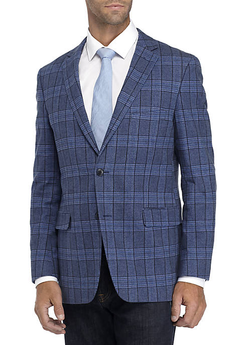 Crown & Ivy™ Blue Plaid Stretch Sportcoat