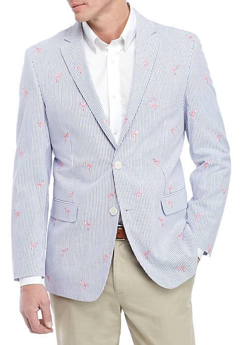 Flamingo Seersucker Sports Coat