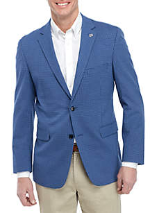 Crown & Ivy™ Blue Check Blazer with Stretch