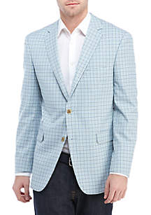 Crown & Ivy™ Blue Green Check Stretch Sport Coat