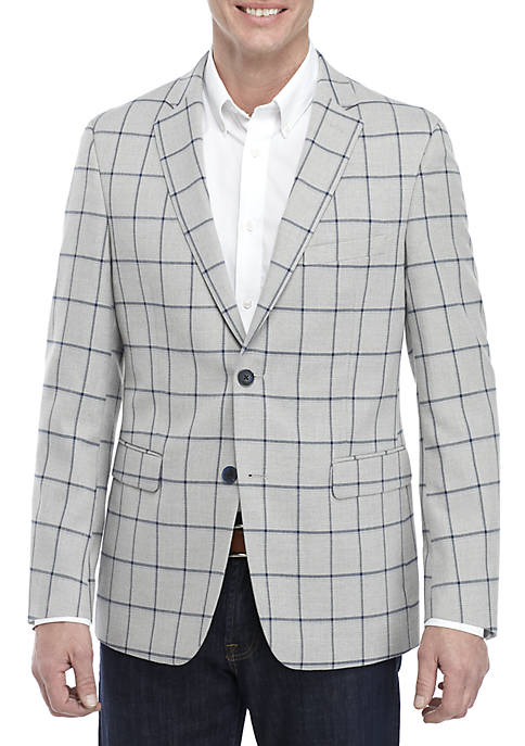 Crown & Ivy™ Gray Stretch Sports Coat