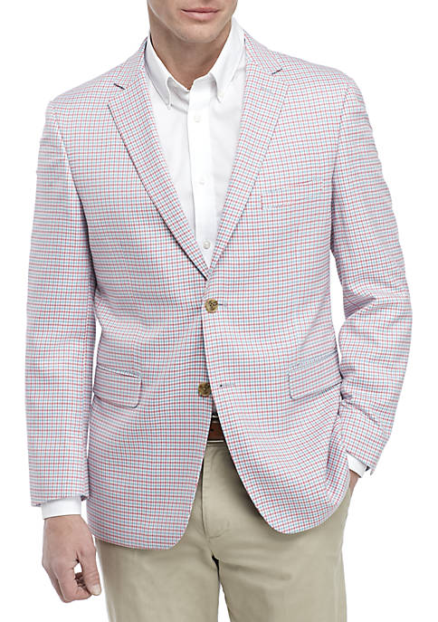 Crown & Ivy™ Blue and Pink Houndstooth Sports