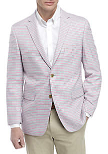 Crown & Ivy™ Blue and Pink Houndstooth Sports Coat