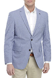 Crown & Ivy™ Navy Gingham Sports Coat