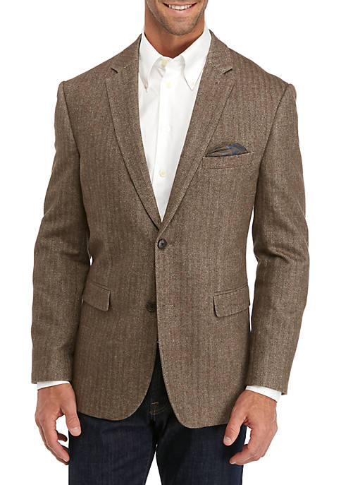 Crown & Ivy™ Tan Herringbone Sport Coat