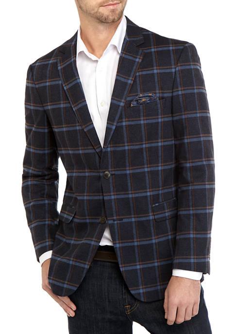 Crown & Ivy™ Mens Windowpane Sport Coat