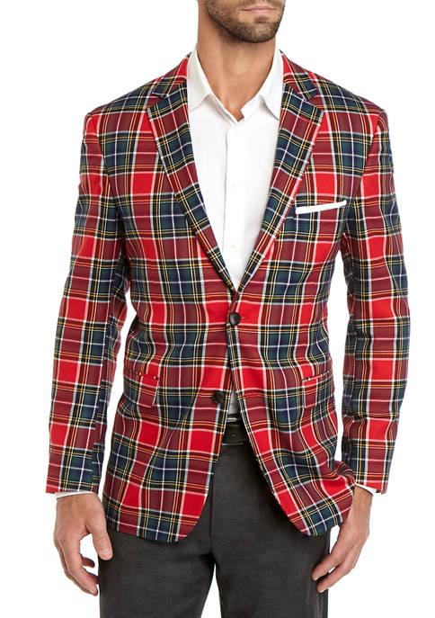 Crown & Ivy™ Mens Tartan Sport Coat