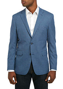 Crown & Ivy™ Blue Ground Navy Check Sportscoat
