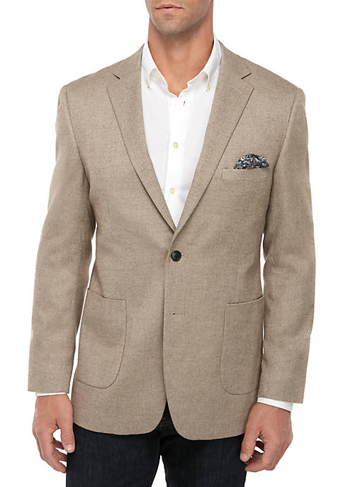 Crown & Ivy™ Tan Heather Mix Solid Sportcoat