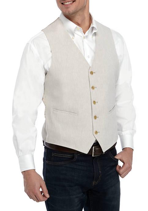 Crown & Ivy™ Mens Tan Linen Vest