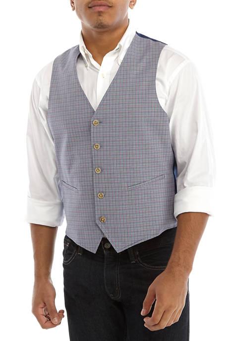 Crown & Ivy™ Mens Multi Color Check Vest