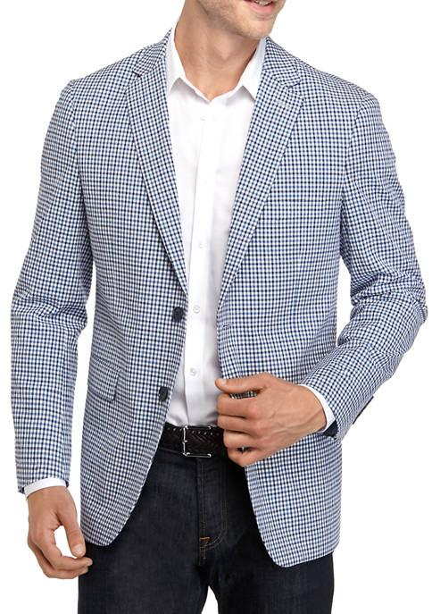 Crown & Ivy™ Blue Check Seersucker Sport Coat