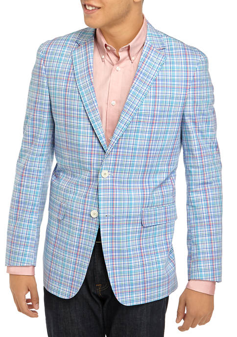 Crown & Ivy™ Mens Multi Color Plaid Sport