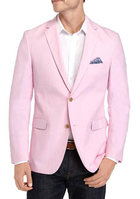 Crown & Ivy™ Pink Herringbone Sport Coat