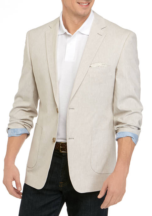 Crown & Ivy™ Mens Tan Linen Sport Coat