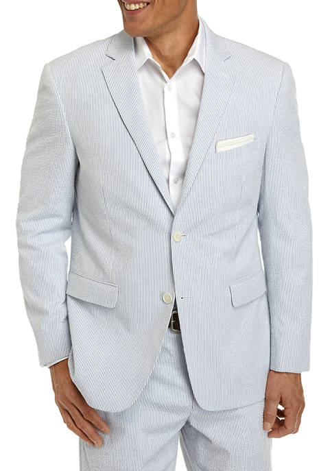 Crown & Ivy™ Mens Blue White Seersucker Suit
