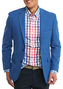Classic-Fit  Motion Stretch Blue Textured Sport Coat