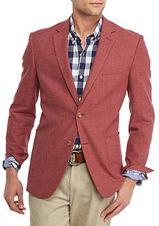 Crown & Ivy™ Classic-Fit Motion Stretch Deep Red Textured Solid Sport Coat