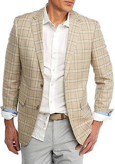 Crown & Ivy™ Classic-Fit Tan Plaid Sport Coat