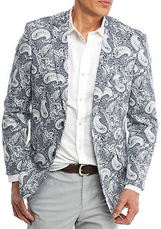 Crown & Ivy™ Classic-Fit Motion Stretch Navy Paisley Print Sport Coat