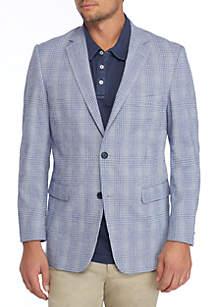 Plaid Seersucker Sport Coat