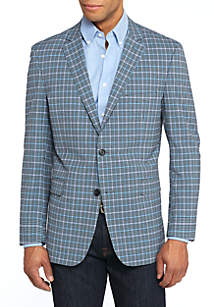 Motion Flex Plaid Sport Coat