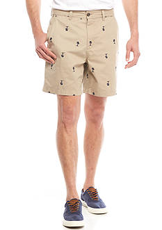 Crown & Ivy™ Embroidered 7-in Twill Shorts