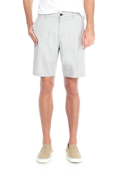 Crown & Ivy™ Stretch Twill Shorts