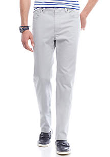 Stretch Sateen 5-Pocket Pants