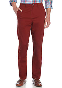 Stretch Flat Front Chino Pants