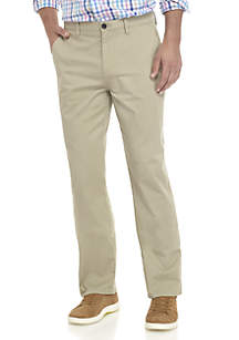 Crown & Ivy™ Stretch Flat Front Chino Pants
