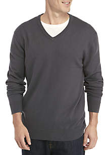 Cotton Cashmere V-Neck Sweater