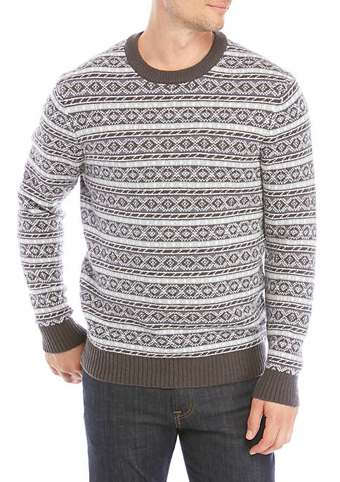 Crown & Ivy™ Fair Isle Sweater